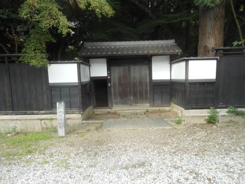 木俣家の正面(彦根場内馬屋北側・開国記念館西側)